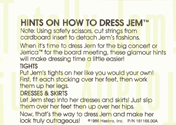 JEM Instructions - Hints on how to dress Jem