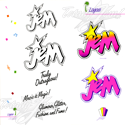 1986 JEM Licensing Kit - Jem logos