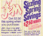 "JEM ""Sizzling Spring Savings"""